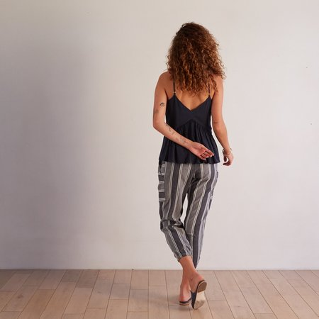 THE ODELLS Draw Cord Slouch Pant - Paros Stripe