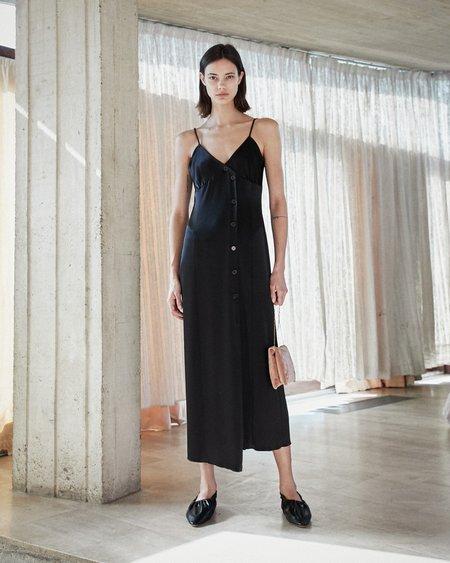 Nanushka ANCENS Satin slip dress - Black