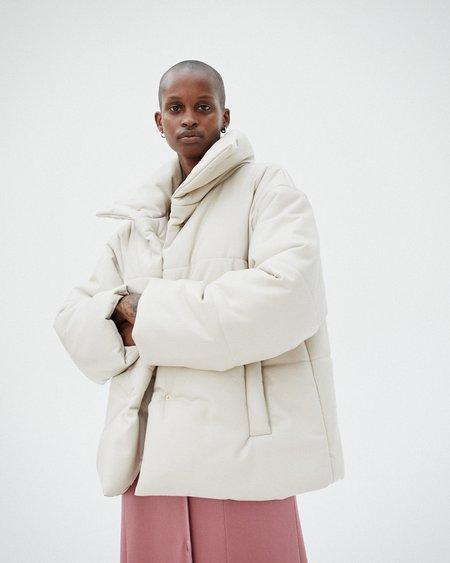 Nanushka HIDE Puffer jacket - Creme