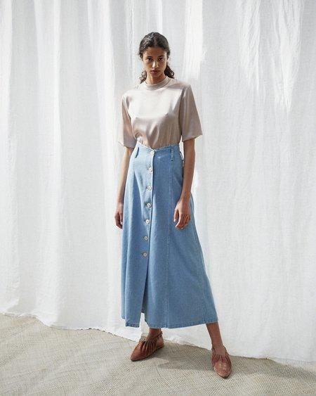 Nanushka ROJA A-line high waist skirt - 80s wash