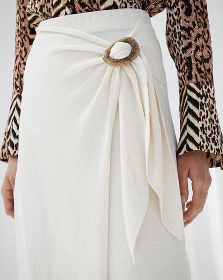 Nanushka SASHA Terry knit wrap skirt - Creme