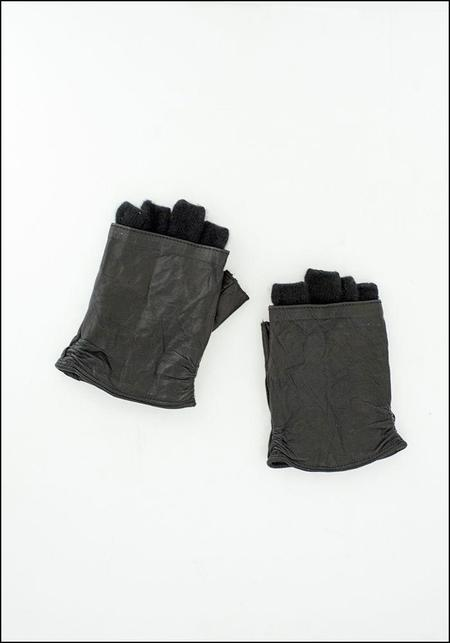 Vivo Italia Cashmere and Leather Fingerless Glove