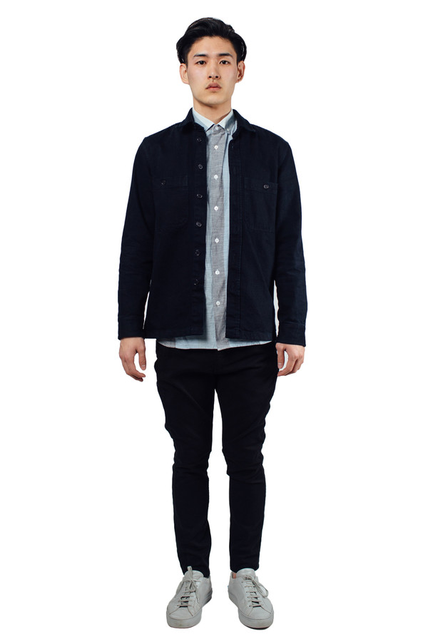 Men's Études Studio Fugace Shirt Navy