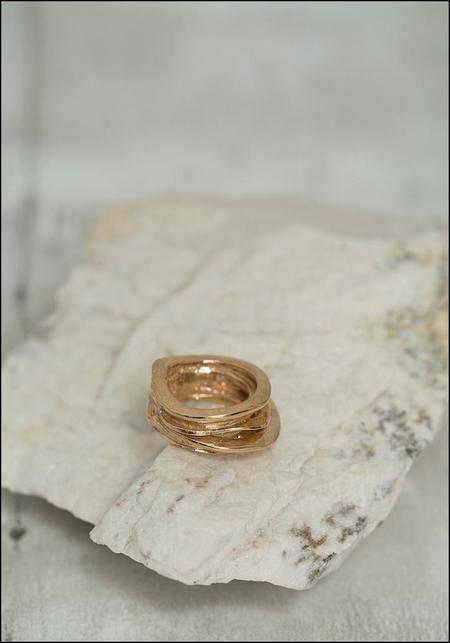 Miriam Nori Textured Layers Ring - Bronze