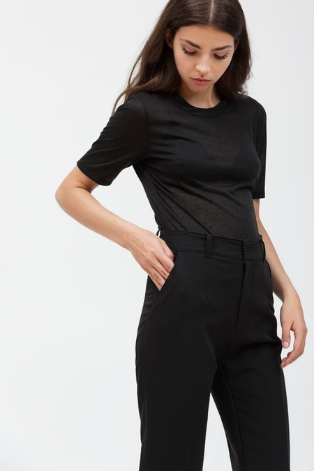 ESSER T-SHIRT COL CROISE - black