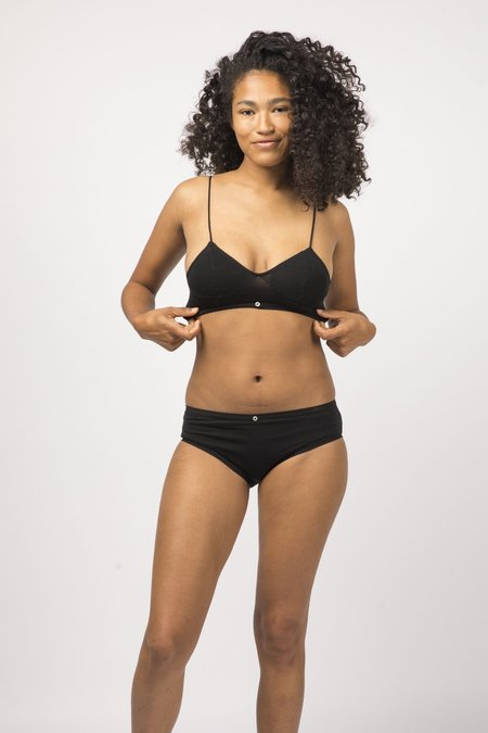 Botanica Workshop Organic Cotton Lila Bikini Brief Multi Pack of 3 - Black