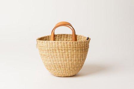 Clare V. Apolline Woven Basket - Natural