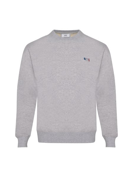 AMI Ami Embroidery Sweatshirt - Heather Grey
