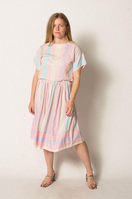 Preservation Vintage Skirt Set - Pastel Striped