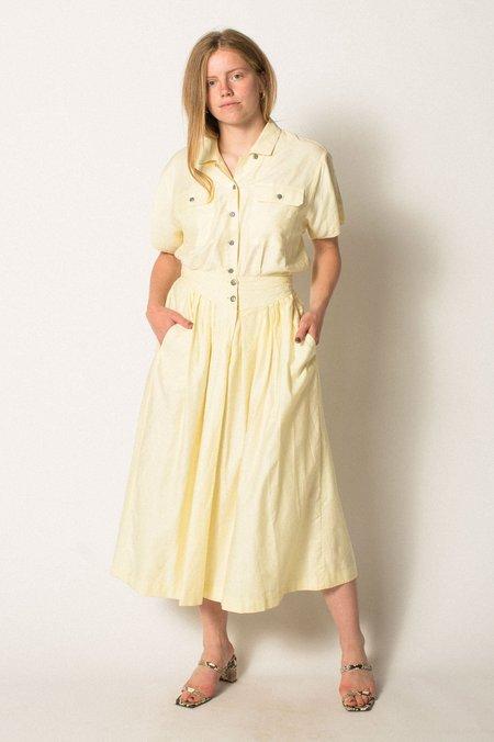 Preservation Vintage Cotton Skirt Set - Yellow