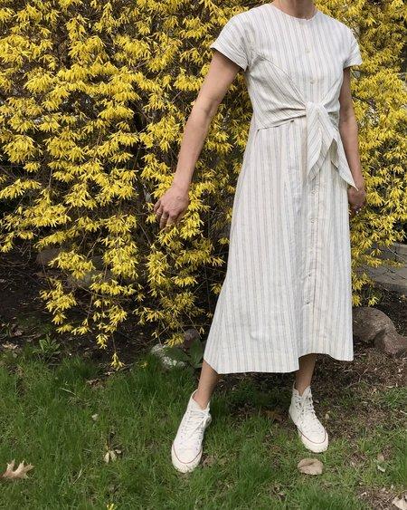 MICAELA GREG Knotted Dress - Stripe