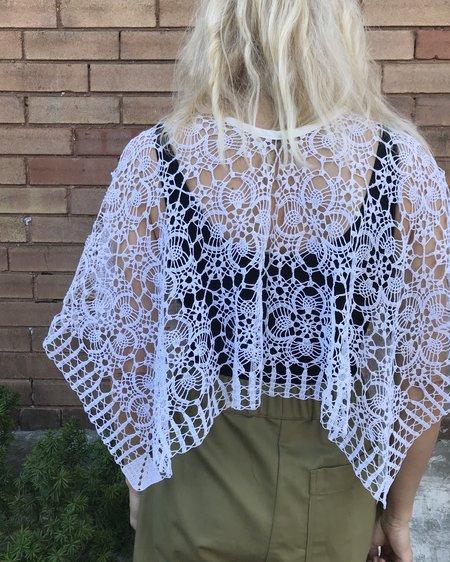 VINTAGE Victorian Cotton Lace top - white