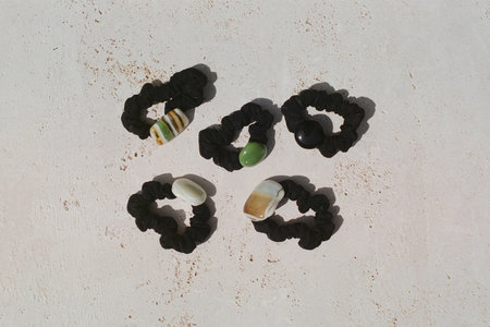 Forme & Sens Glass Hair Tie - Onyx
