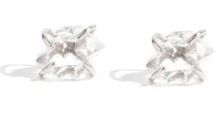 Melissa Joy Manning Herkimer Diamond Stud Earrings - Silver