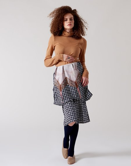 A Détacher Erma Dress - Slip Print Houndstooth