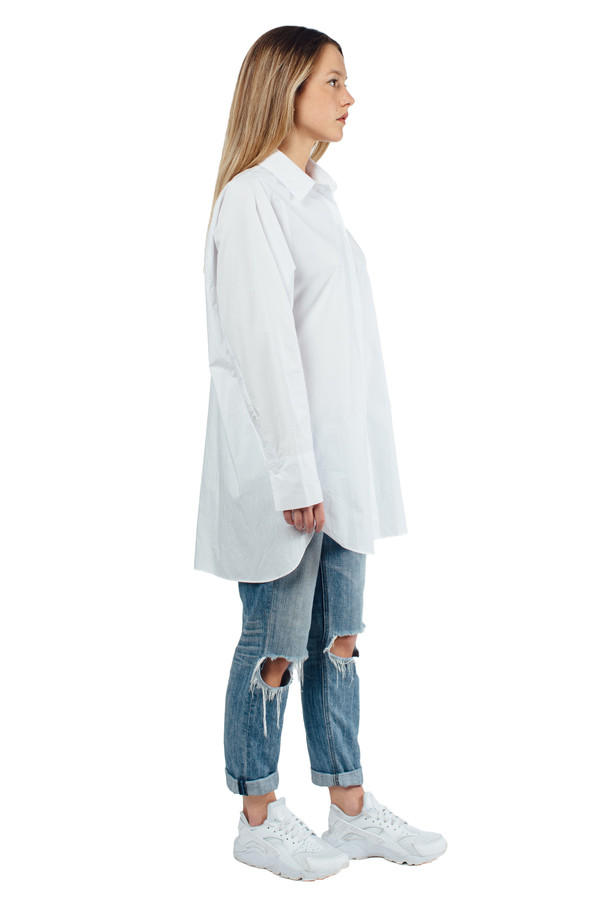 WU+SEN Pour Shirt White