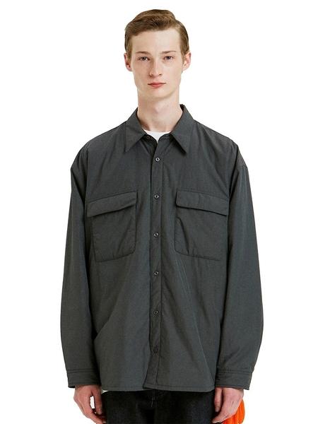 Liful Minimal Garments. Padding Shirt Jacket - Gray