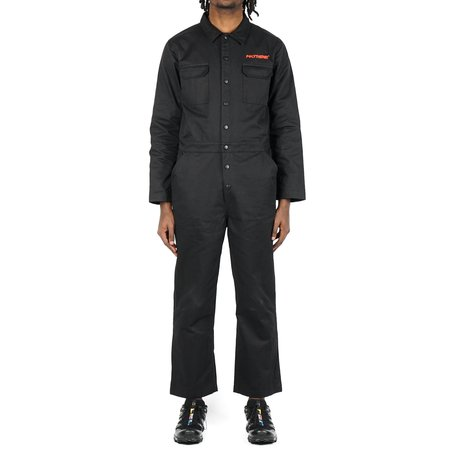 POLYTHENE* OPTICS BOILER SUIT - BLACK/RED
