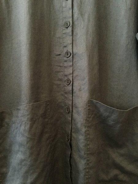 Cheyenne Linen Jacket - Dark Denim Blue