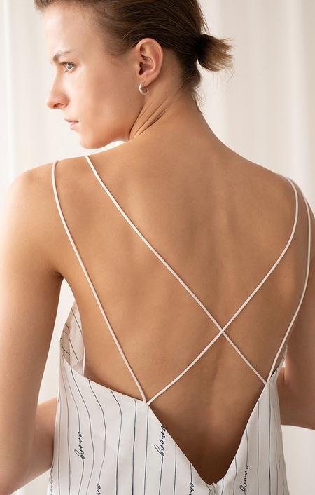 AMONG SEOUL Spaghetti Strap Dress - IVORY