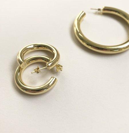 Machete Mini Hoop Earrings - 14k Gold