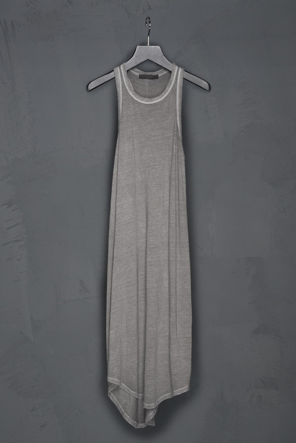 Racer Back Cotton Jersey Dress