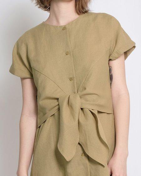Micaela Greg Knotted Dress - Moss