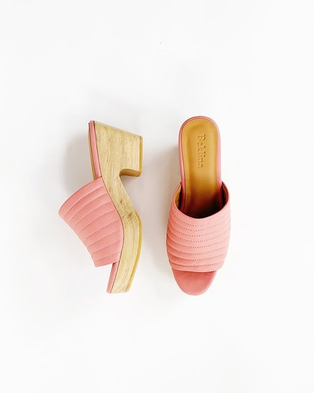 Beklina Ribbed Open Toe Clog - Blush