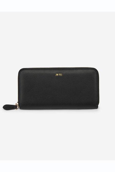 JW PEI Zipper Wallet - Black