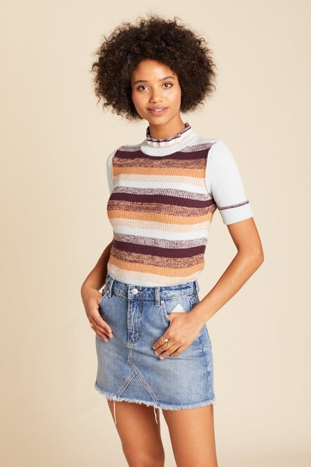 Free People Best Intentions Pullover - Stripe