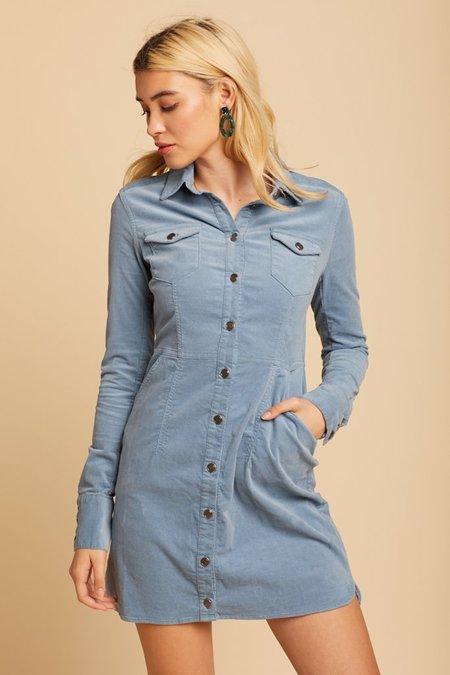Free People Dynomite In Cord Dress - Blue
