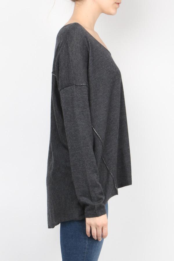 Long Sleeve Boxy Tee Sweater