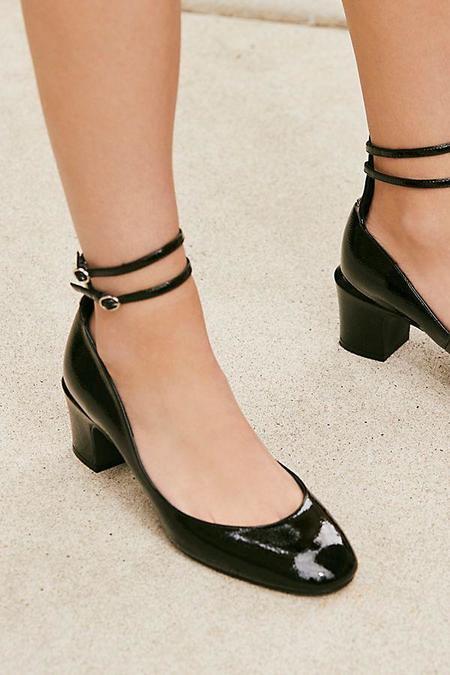 Free People Lana Block Heels - Black