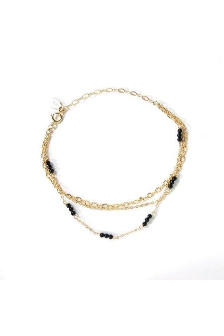 Marida Posies Bracelet - 14K gold filled/Black Onyx