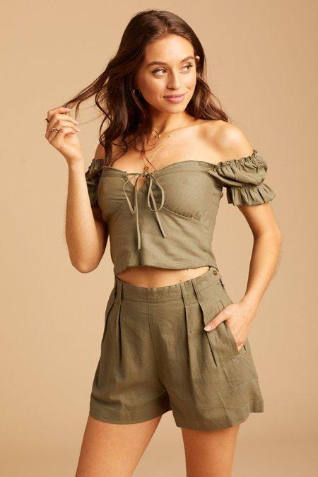 Jen's Pirate Booty White Island Shorts - Military
