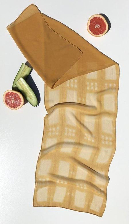 De La Terra Gaviota Scarf - Mustard