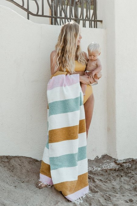 Gunn And Swain The Biarritz Blanket - Earthy Stripe