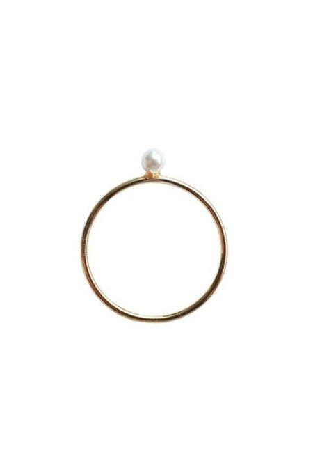 Marida Perla Ring - gold fill/pearl