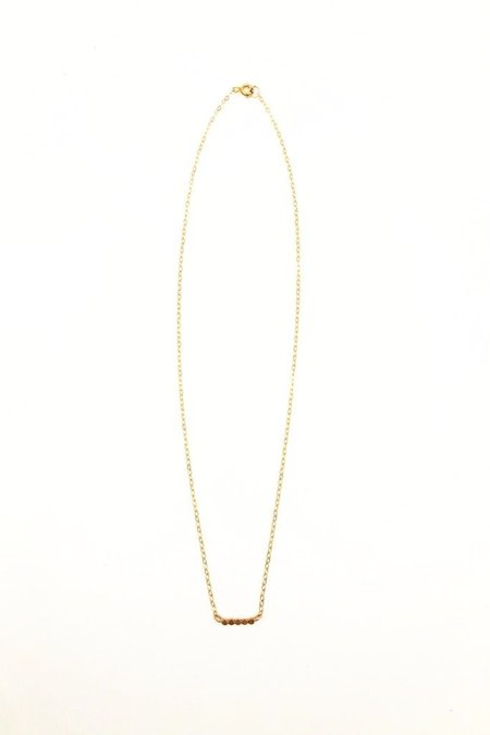 Brooke HIll Petite Dot Necklace - gold fill
