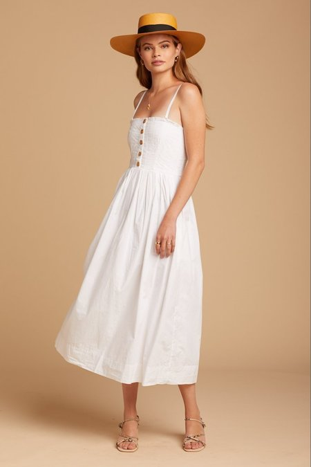 Free People Lilah Pleated Tube Dress - White