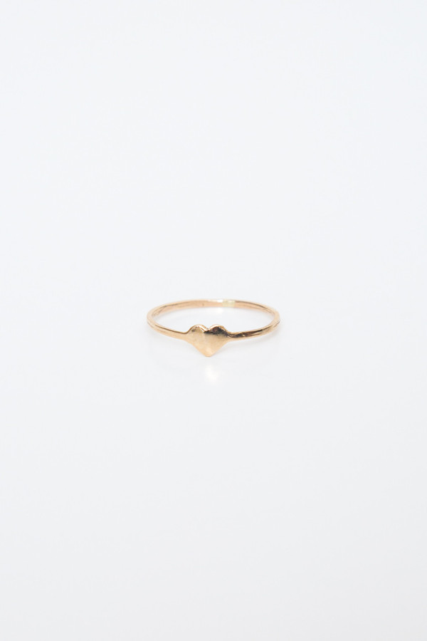 fiat lux 14k heart ring