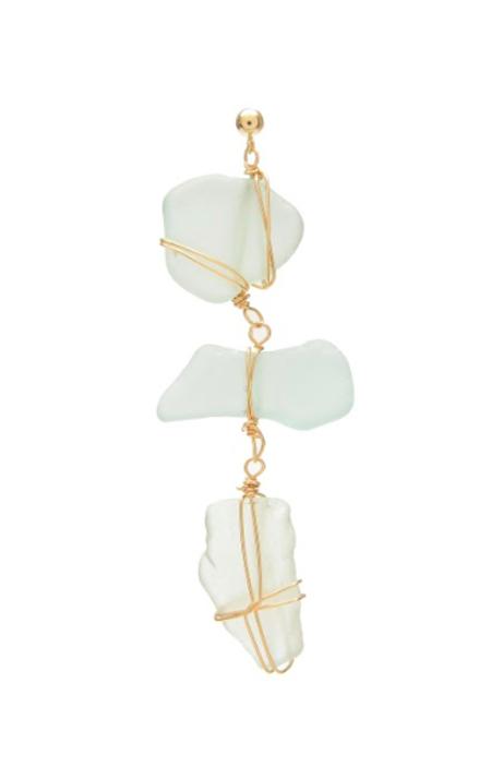 SVNR Atoll Earrings - Sea Glass/14k Gold