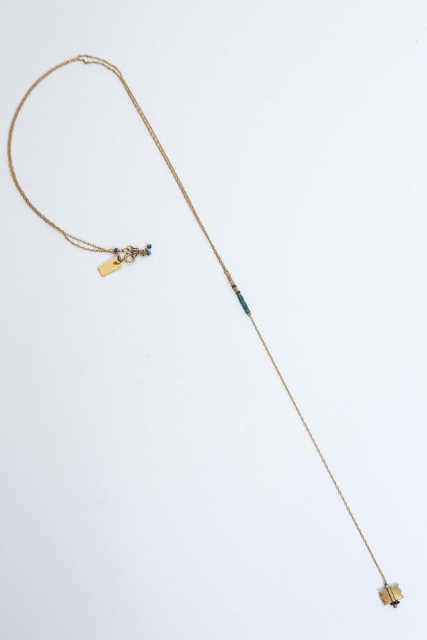 iwona ludyga white sands long necklace
