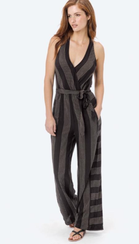 Love Stitch Selma Jumpsuit - Black Striped