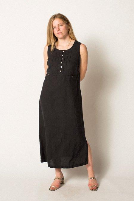 Preservation Vintage Linen Dress - Black