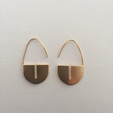 EMD Joailliere Padlock Earrings - GOLD BRASS