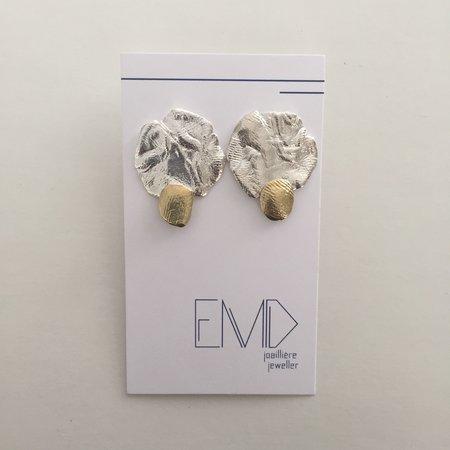 EMD Joailliere Textured Earrings - Silver/Brass