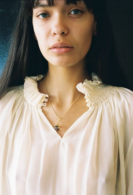 Jasmin Sparrow Lulu Necklace - Smokey Quartz/Gold