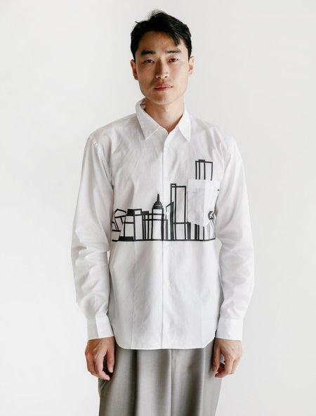 Comme des Garcons Cotton Broad Printed Shirt - City Scape