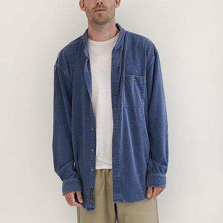 Vintage Johan Textured Cotton Button Down - Blue